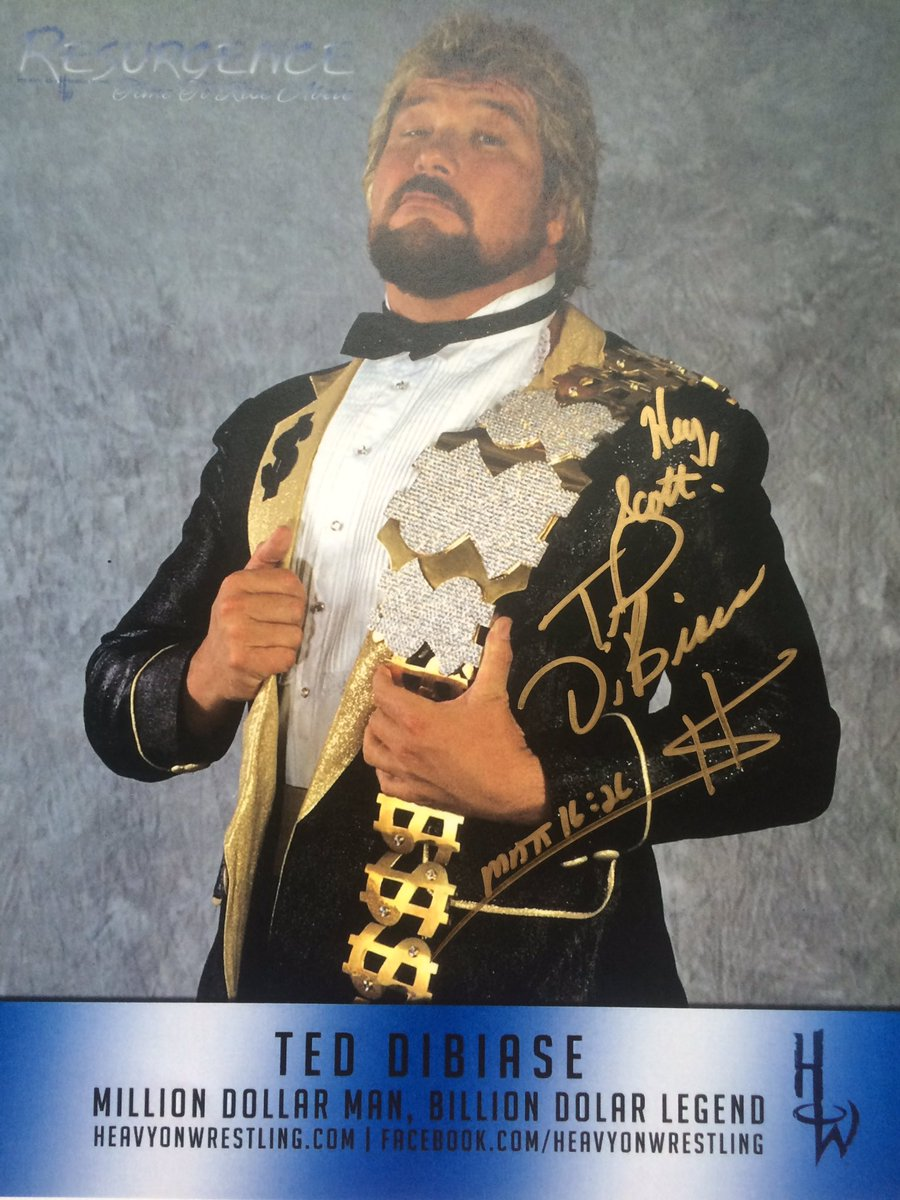 My signed @MDMTedDiBiase autograph.  Shout out to @madsek01 for the gift. https://t.co/aoLPumsvH7