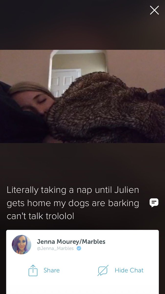 Jenna Marbles On Twitter Sometimes I Go On Periscope And Wish More People Were Live Napping Be The Change You Wish To See In The World Https T Co 8723sun3lb On thursday, youtube star jenna marbles announced that she was taking a break from her popular youtube channel. jenna marbles on twitter sometimes