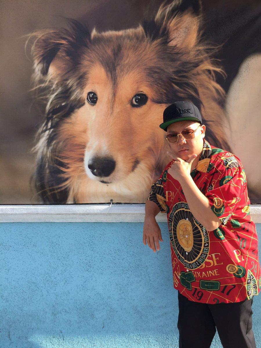 Photo of Eddie Huang & his  Dog