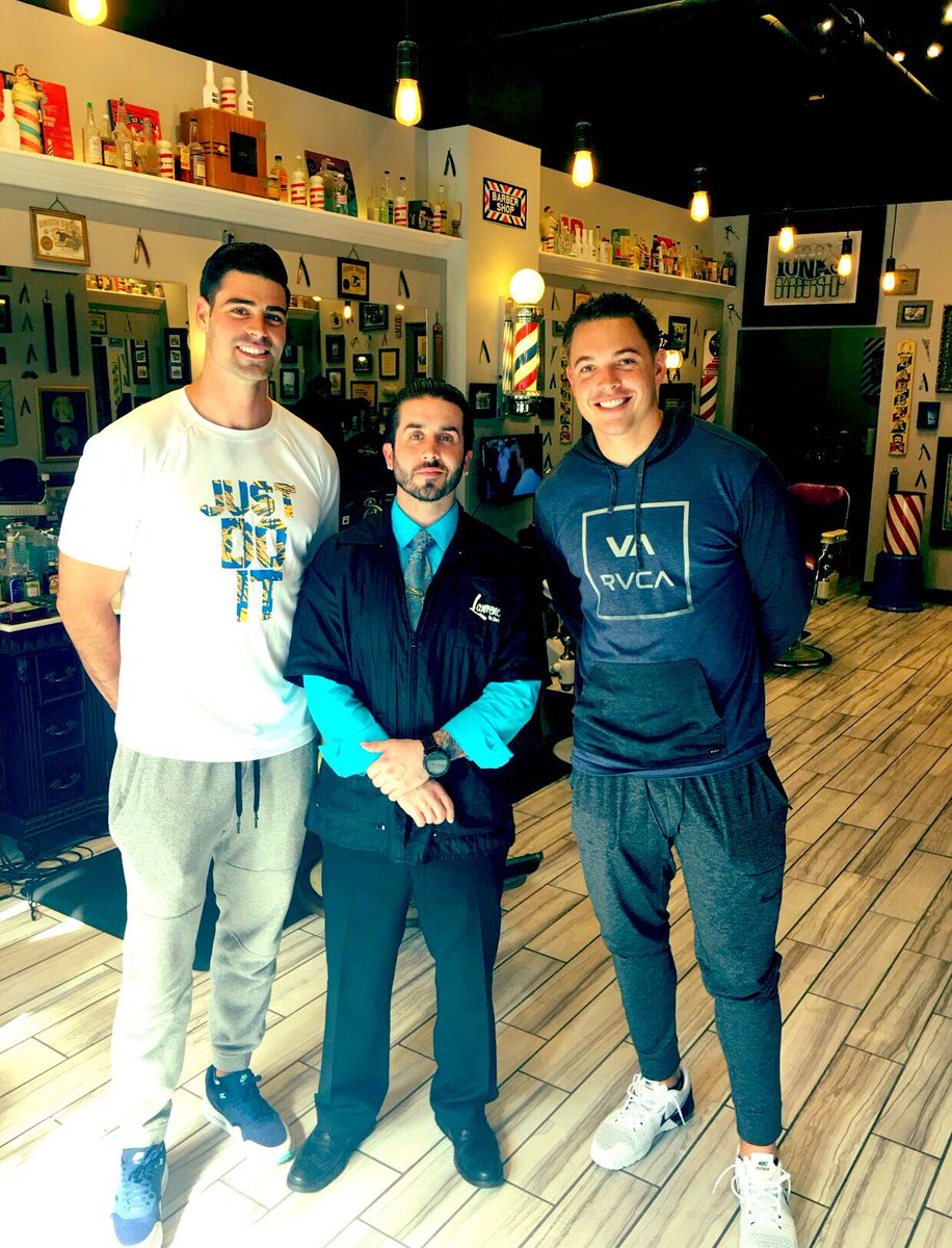 @PatODonnell_16 and I found our new barbershop today. Thanks @funksbarbershop for taking care of us!
