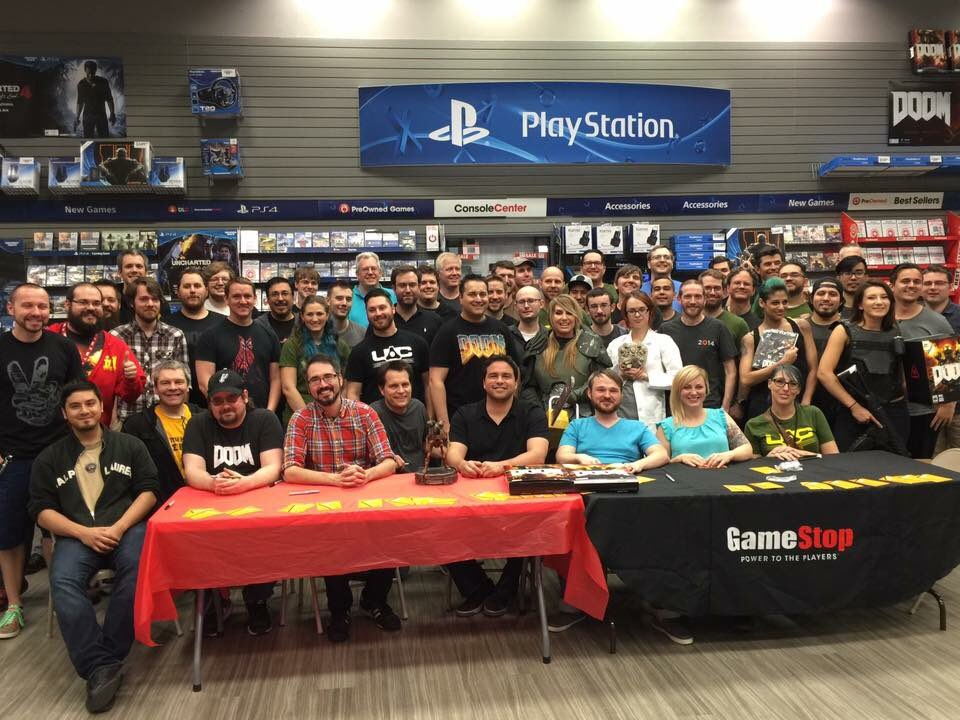 #id Software at the #DOOM signing at the GameStop in Plano.