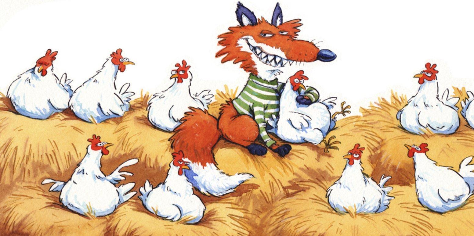 открытка лиса в курятнике показан пошаговых фото