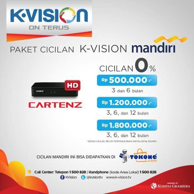 Kvision On Twitter Dptkan Promo Cicilan 0 Bankmandiri Dekoder Cartenz Di Tokonedotcom Https T Co Najzuwqhts Kvisiononterus