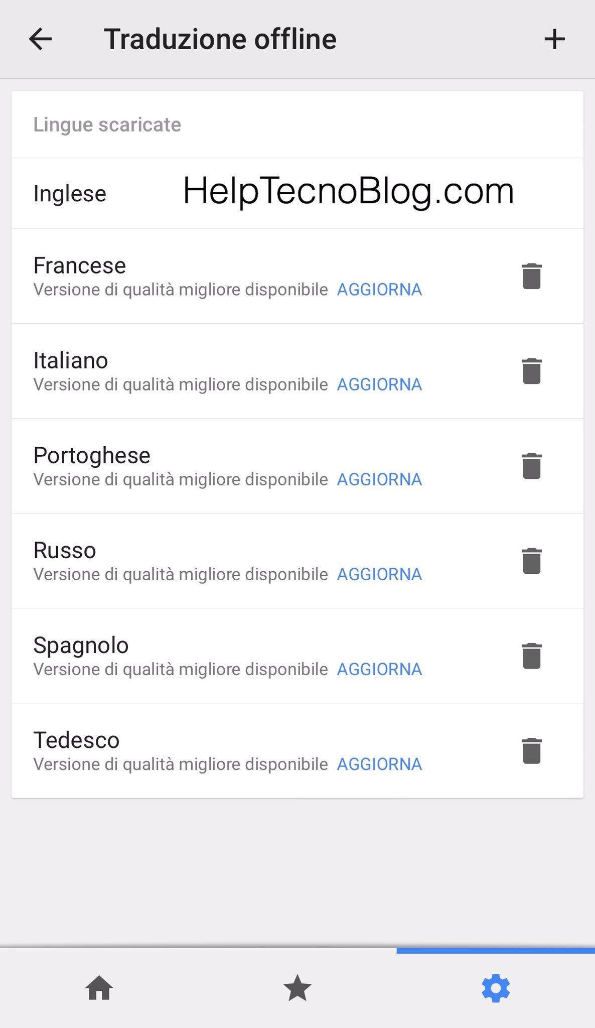 Attivare google translate offline