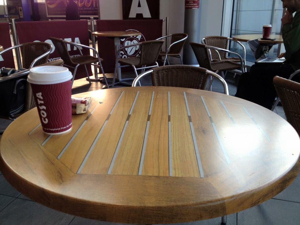 AdamNathanielFurman On Twitter Printedwipeclean Costa Coffee - Costa coffee table