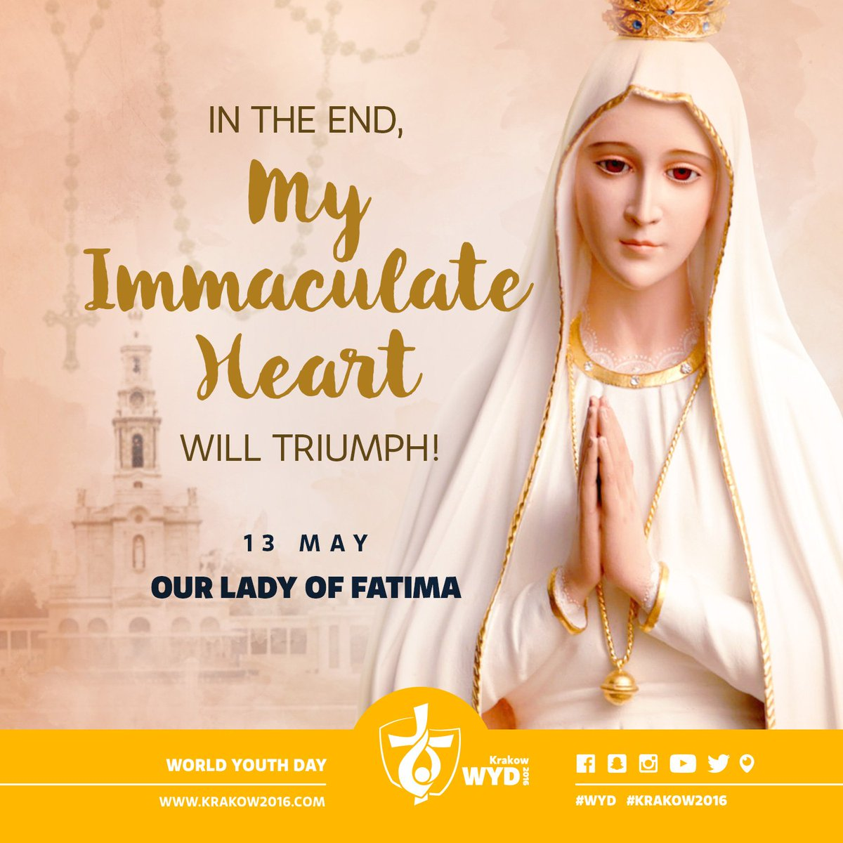 """wyd english on twitter: """"'in the end my immaculate heart will"""