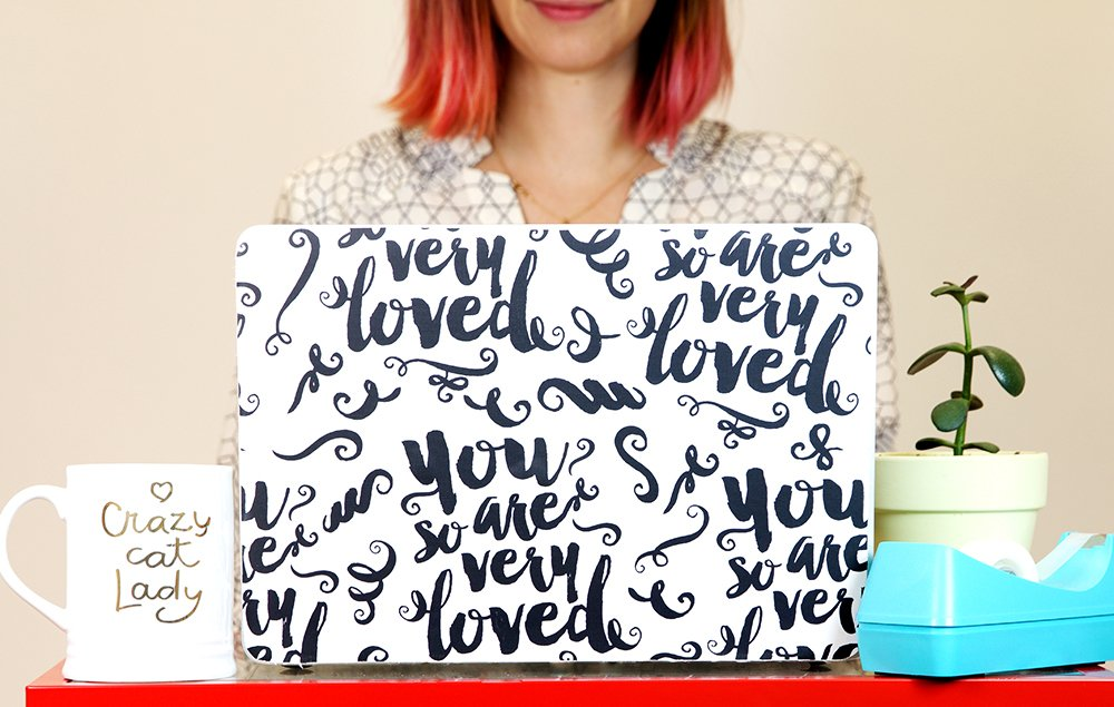 Spoonflower On Twitter Wallpaper Hack DIY A Custom Laptop Skin For Under 10 Using Just Peel Stick Swatch Tco RLFjs8besx