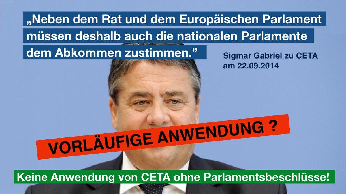 Vorläufige Anwendung? - Keine Anwendung von CETA ohne Parlamentsbeschlüsse!