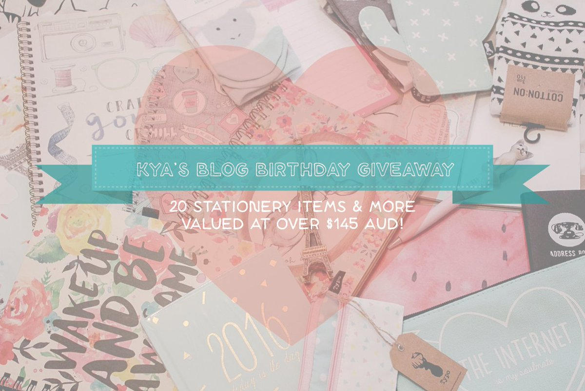 Blog Birthday & Giveaway - https://t.co/USqYClWzky