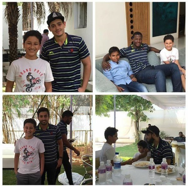 EXCLUSIVE - PHOTO FEATURE :: Mahesh Babu Son enjoys LUNCH with IPL stars
