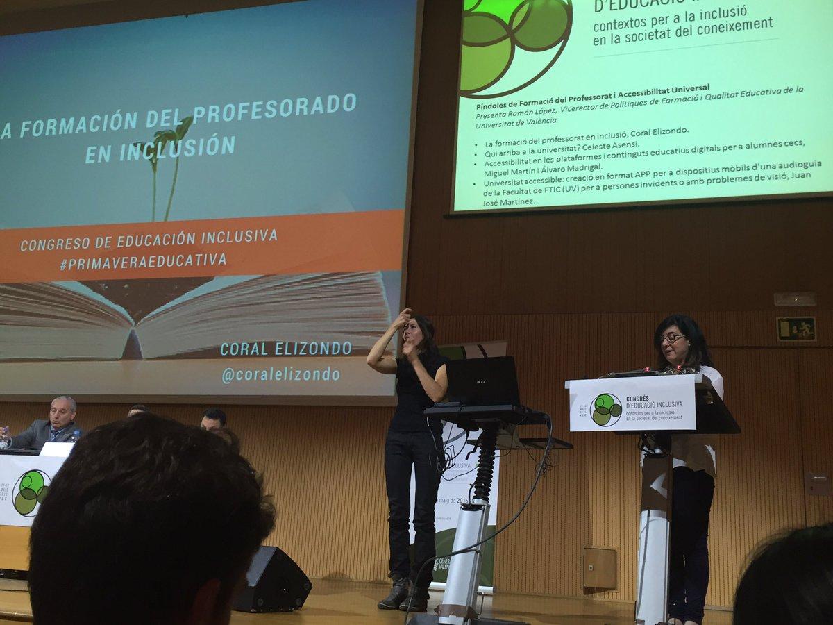 Un placer escuchar a @coralelizondo en #EduInclusiva16 https://t.co/J21xcOm2PN