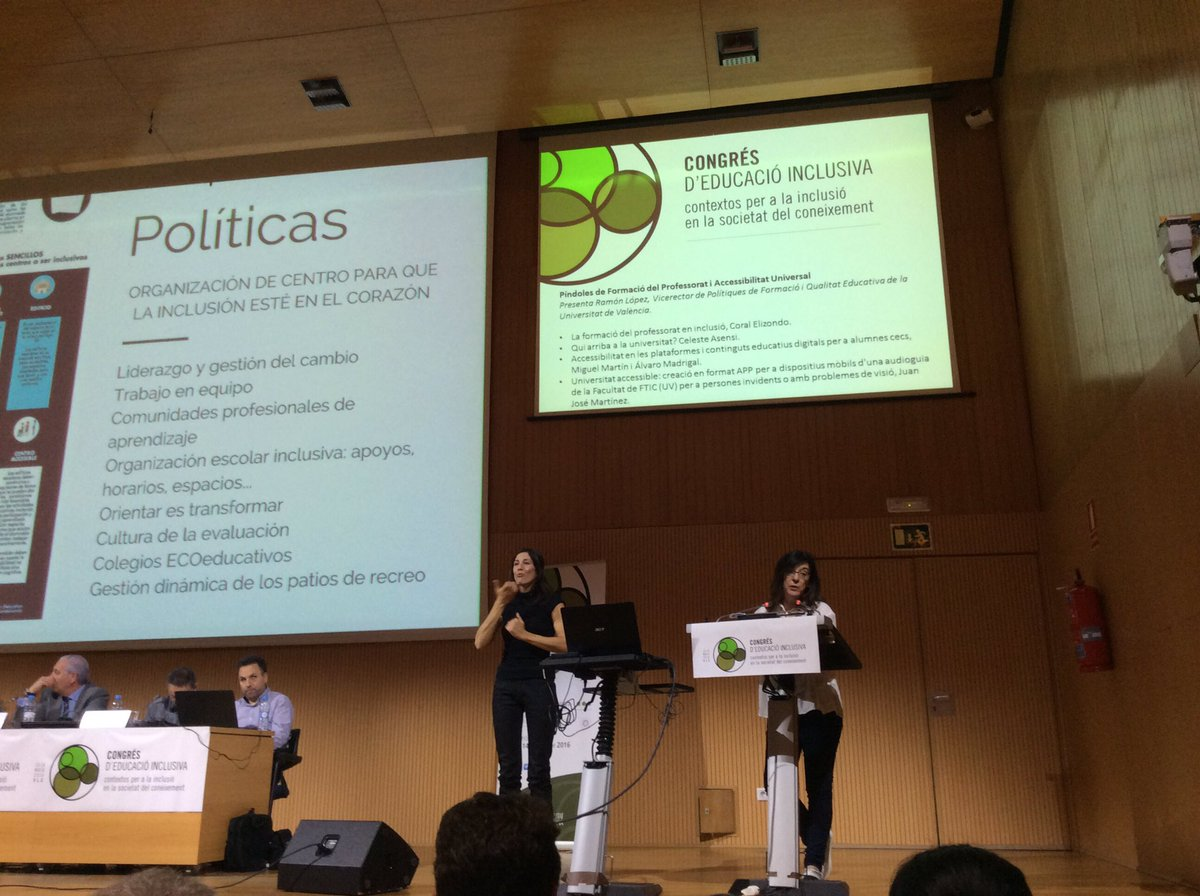 @coralelizondo en #EduInclusiva16 La Formació del professorat perla Inclusió:Comunitats professionals d'aprenentatge https://t.co/Ph7K4XBU1w