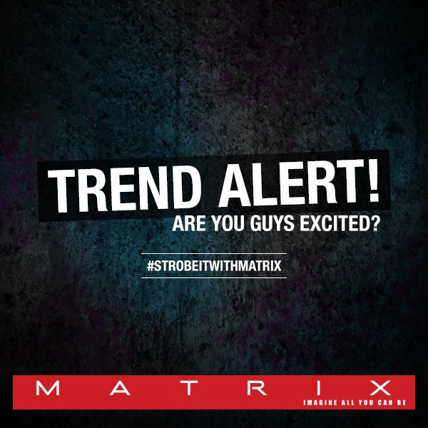This new hair trend is here to stay! Stay tuned to know what we have in store for you. #StrobeitWithMatrix https://t.co/77u5KVy0IB