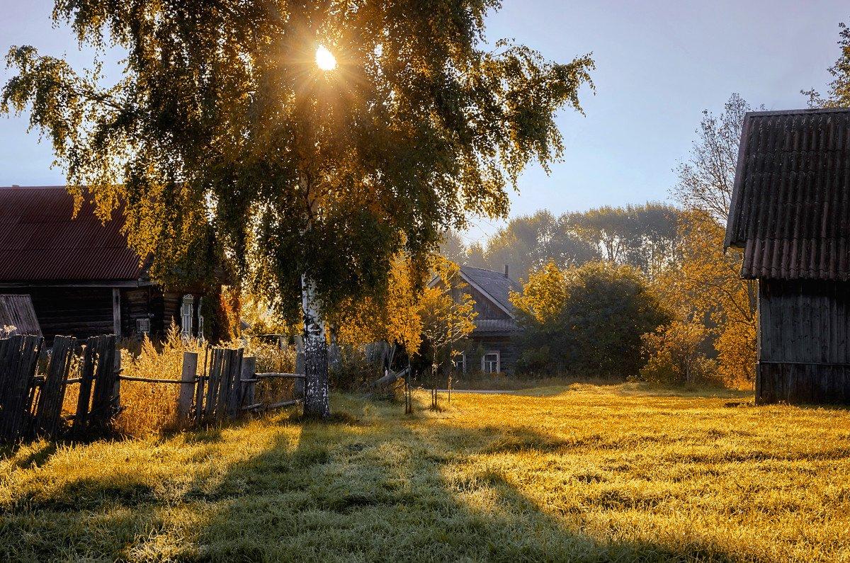 Днем рождения, красивые картинки с деревеньками