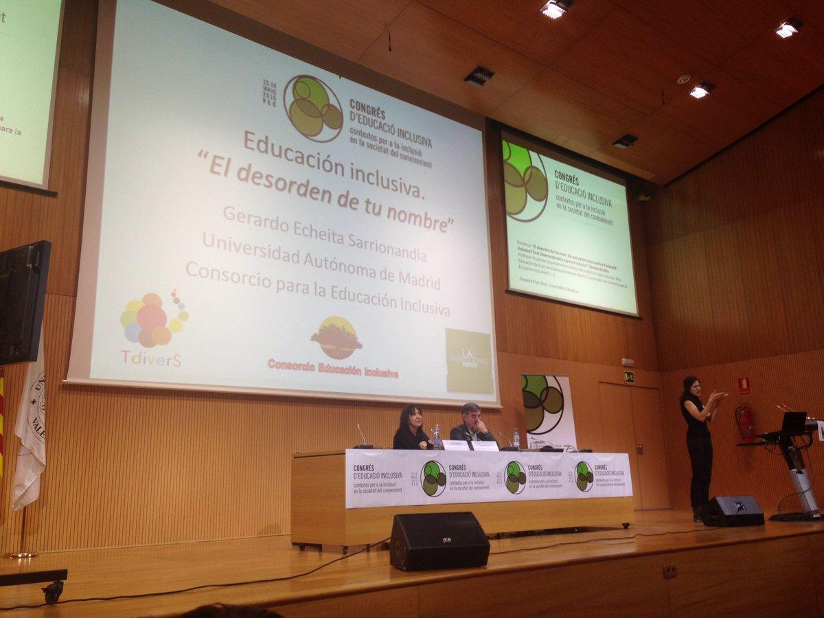 El sistema educatiu espanyol és inclusiu? Gerardo Exheita. @CEFIRE_Valencia #EduInclusiva16 #PrimaveraEducativa https://t.co/CmC5pr1yKN