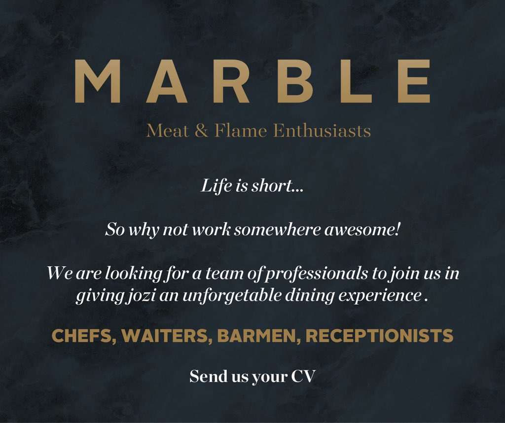 Please send your CV to admin@marble.restaurant https://t.co/clfREIl6Kp