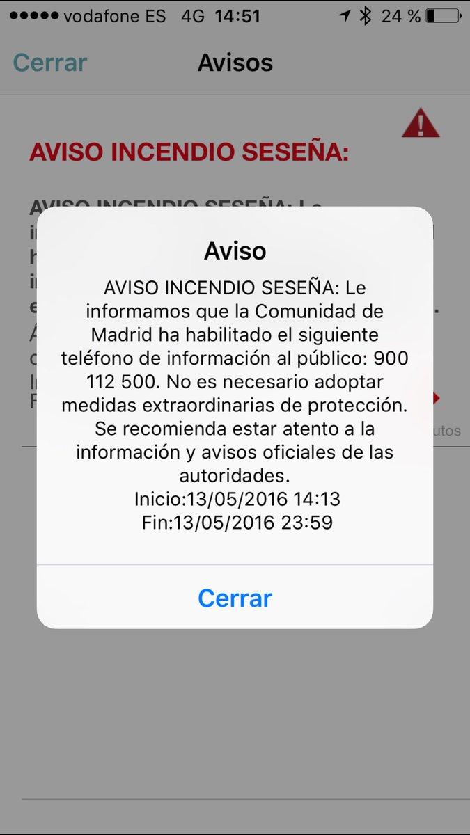 Vost Madrid On Twitter Seseña Hasta 1530h Teléfono 900 112 500