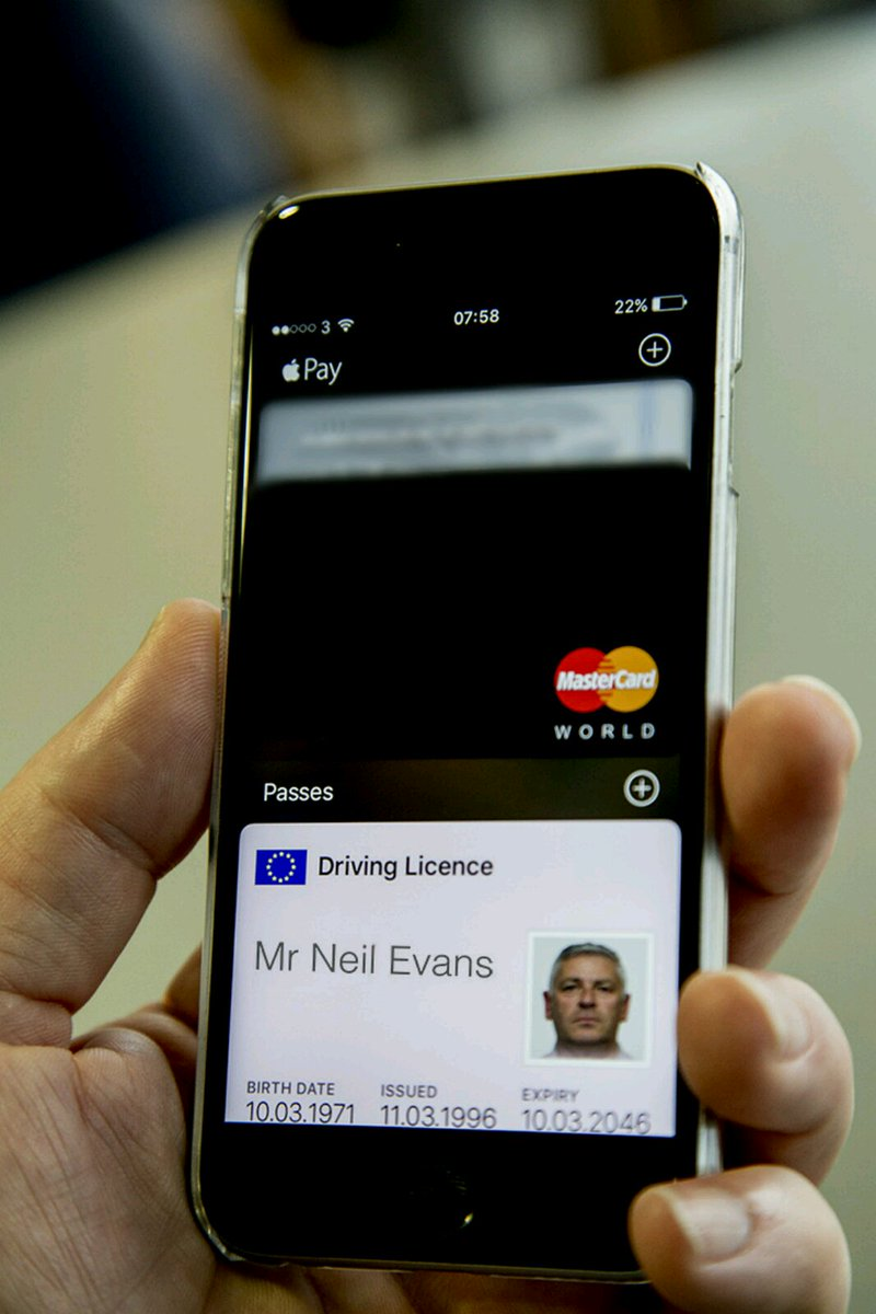 The iPhone Wallet may allow DVLA licence checks on the iPhone