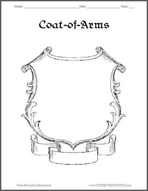student handouts on twitter fan of the middle ages design your own got coat of arms with. Black Bedroom Furniture Sets. Home Design Ideas