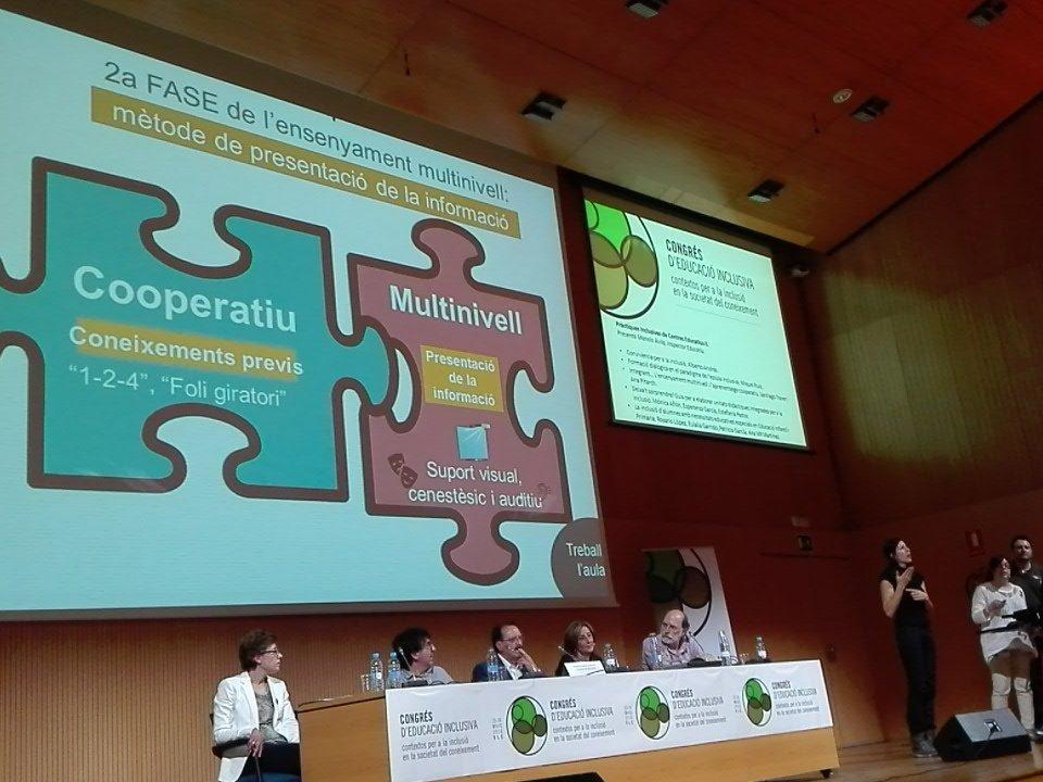 La enseñanza multinivel y el aprendizaje cooperativo Docencia compartida #EduInclusiva16 Santiago Traver Ana Pitarch https://t.co/wXJccoU27m