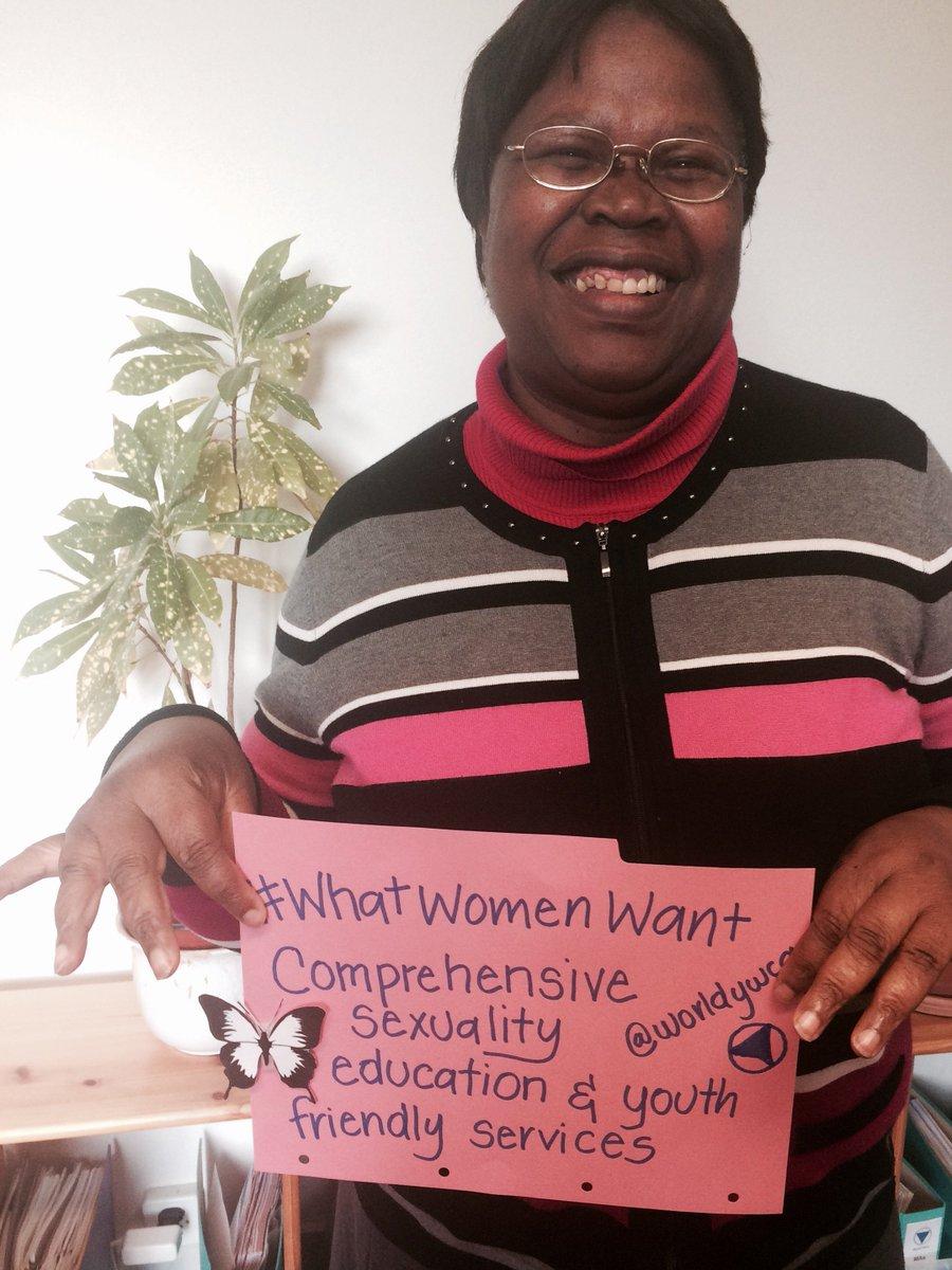 #WhatWomenWant comprehensive sexuality education & youth friendly services @UNAIDS @un_pga @NetworkAthena @worldywca https://t.co/dwDfajZqTP