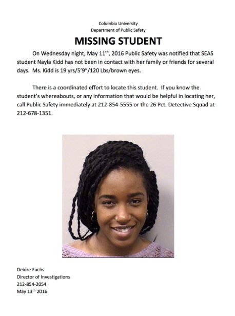 Our community is deeply concerned whenever a student is missing. Please share this image. https://t.co/rHbWNjwtTS
