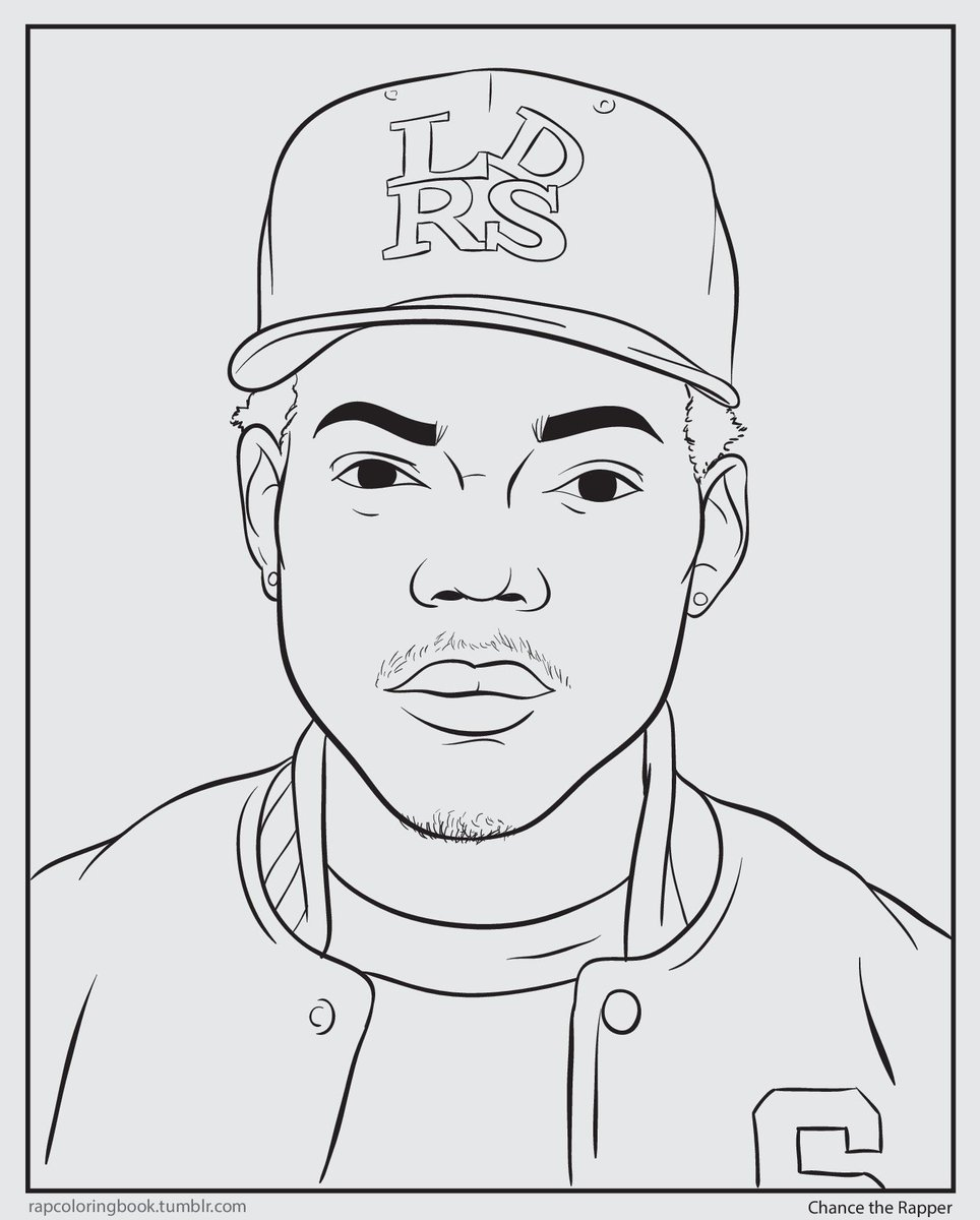 shea serrano on twitter i made an actual chance the rapper coloring page and you can color it while you listen to chances coloring book - Rap Coloring Book