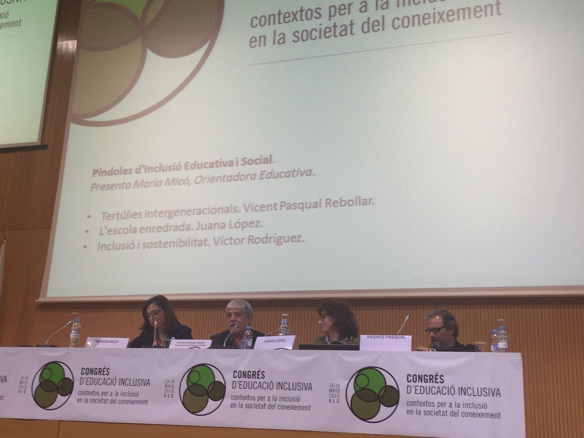 Comienza @Victorod1 nos hablará de la inclusión y sostenibilidad o educación ecosocial #EduInclusiva16 https://t.co/ZKNKhb6zR9