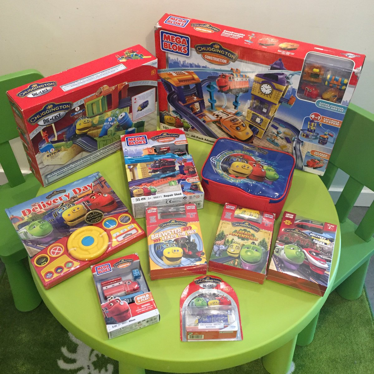 In honor of #TrainDay tmw, celebrate w/ our favorite train, @Chuggington! RT&Fav 4 a chance to win ALL of this swag! https://t.co/0YJJ7uasGC