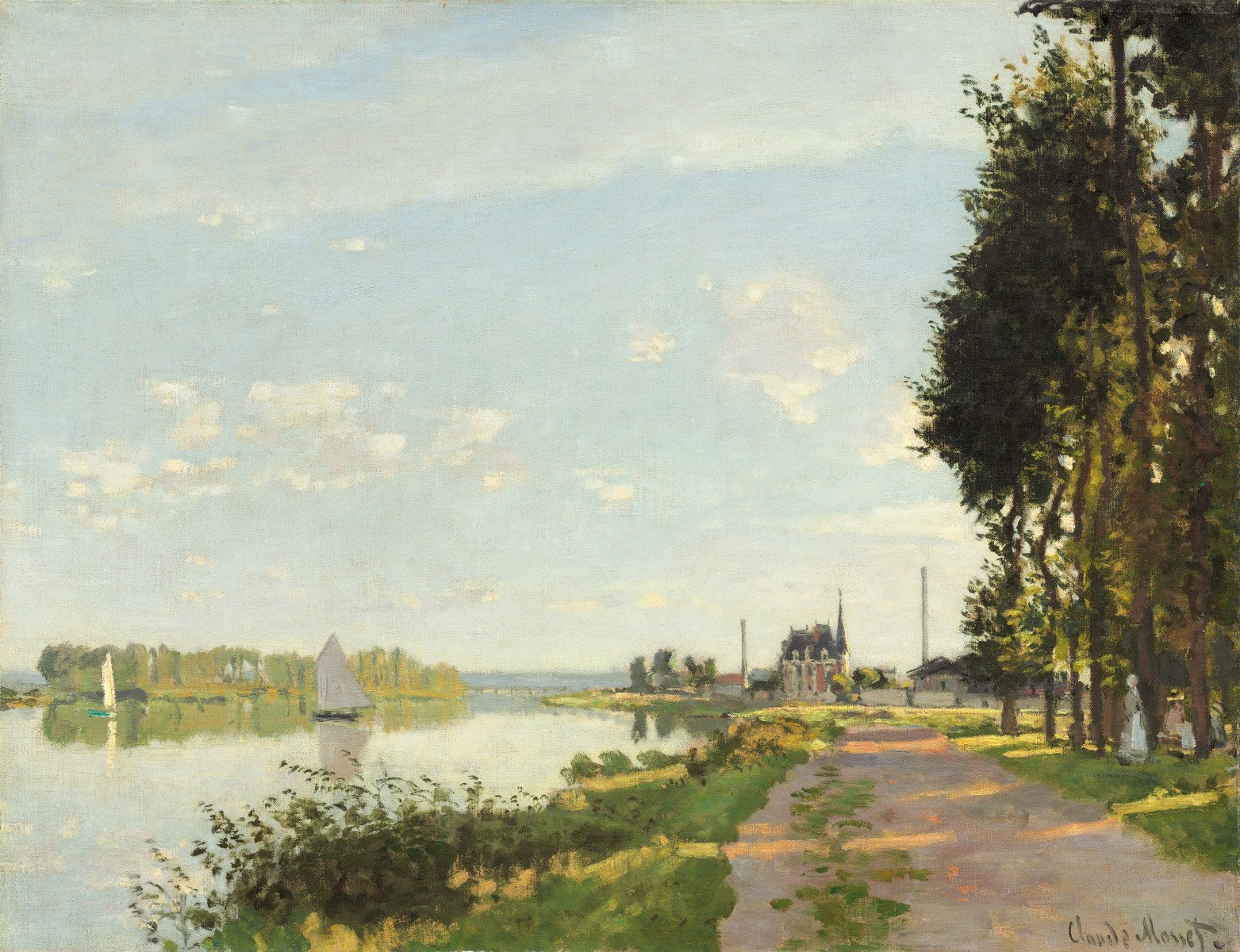 """National Gallery of Art on Twitter: """"Claude Monet moved to Argenteuil, the  new hub of impressionism, in 1871, painting this scene soon after  arriving.… """""""