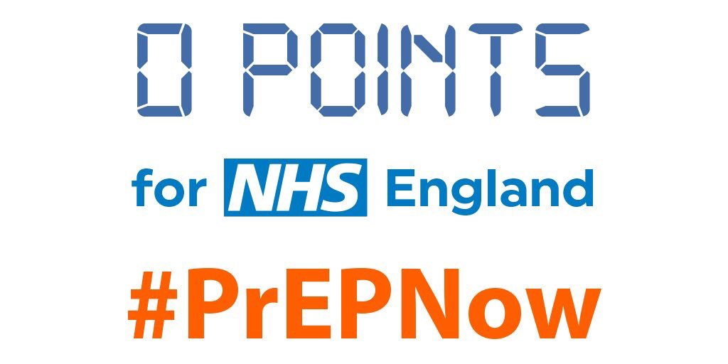 I give @NHSEngland 0 Points for there delay on PrEP #WhereIsPrEP https://t.co/MwafJuaZUT