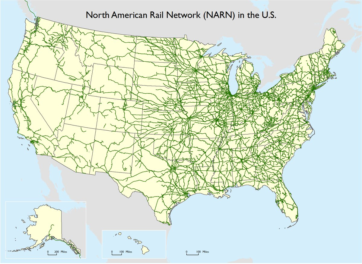 Transportstats On Twitter Now Available North American Rail - Map-of-us-rail-network