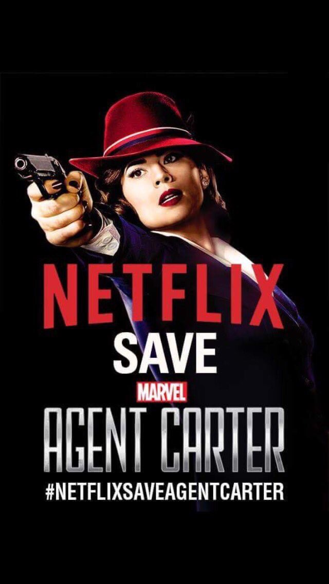 Apparently @ABCNetwork is too dense to know #AgentCarter's value. But not you, right @netflix?  #SaveAgentCarter https://t.co/cqt07zsHwK