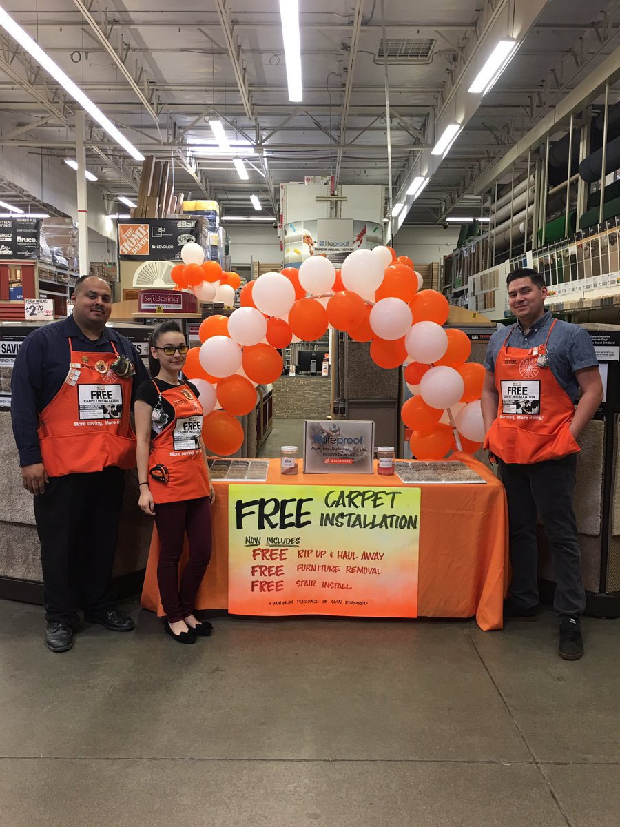 Elk Grove Home Depot On Twitter Custom As Shouting Out Free Carpet Installation For Our Flooring Specialists Here At Thegrove Weare6674