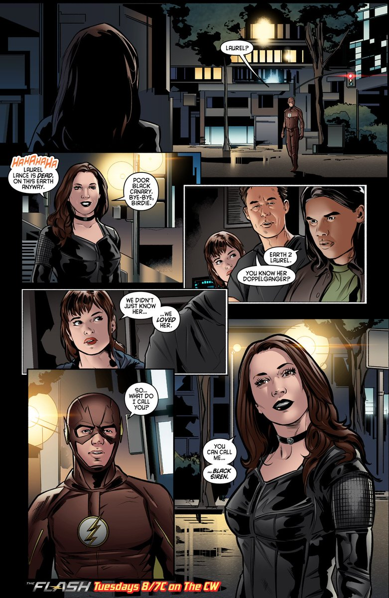 Black Canary Project Ar Twitter Black Siren On New Comic Book Preview From Episode 2x22 Of The Flash Mzkatiecassidy
