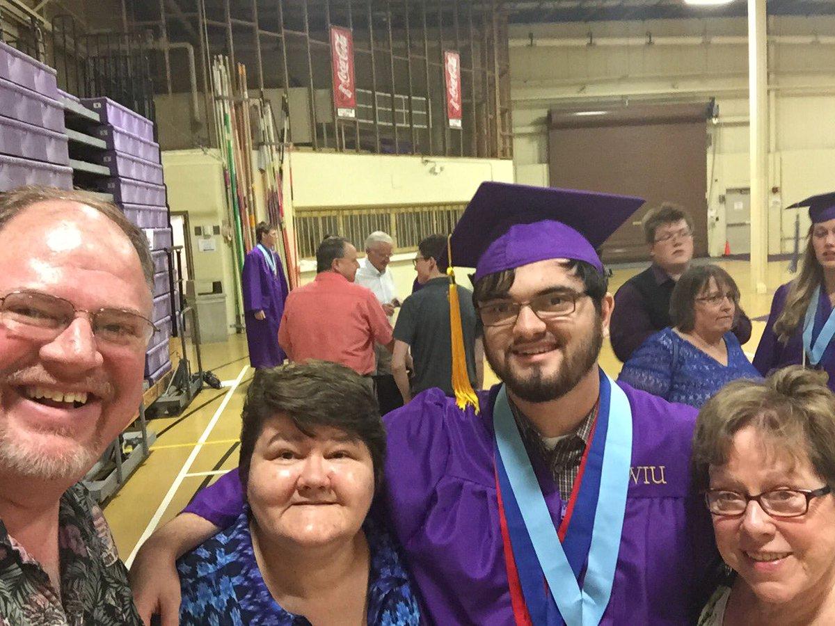Alex after the honors convocation. #WIUPride #ProudParent #SummaCumLaude #DepartmentalScholar #HonorsScholar https://t.co/TYB8JW1aEW