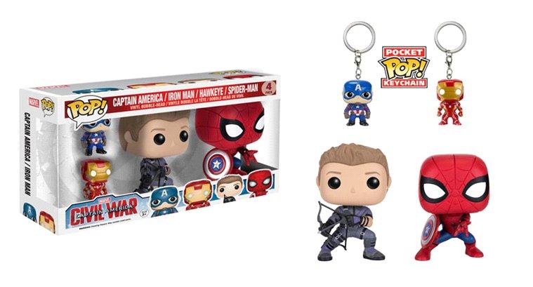 This June, #SpiderMan and #Hawkeye join the #CaptainAmericaCivilWar Pop! line from @OriginalFunko!