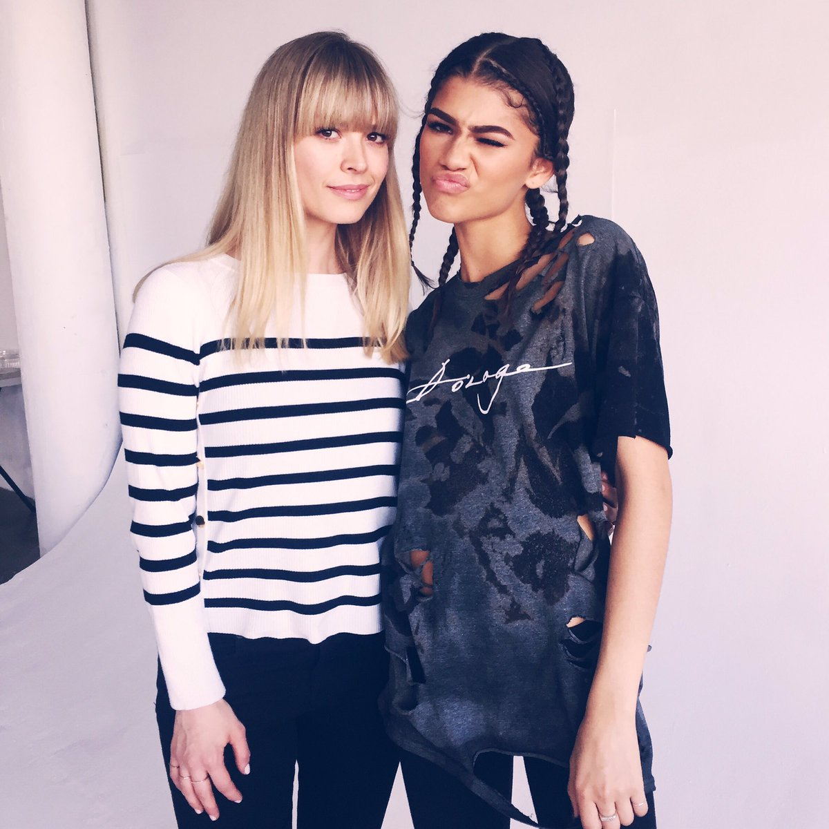 What a Daya. Great shooting with the smart and gorgeous @Zendaya https://t.co/sFny9tqGHG