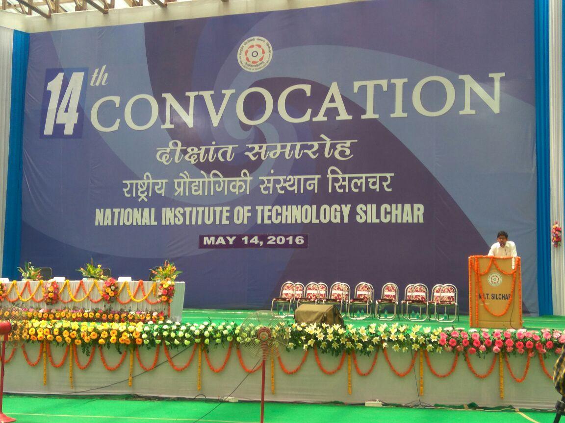Silchar Sanjiv Sharma : Glimpses convocation NIT Silchar
