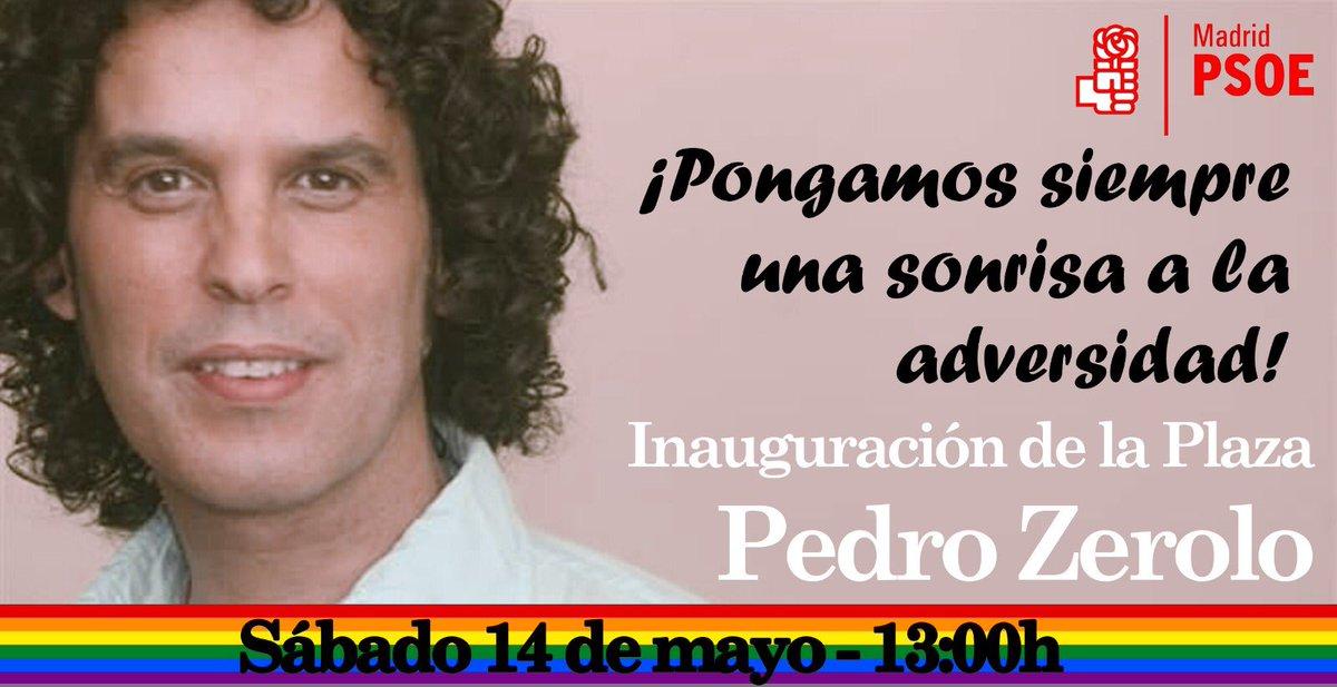 Hoy, a las 13:00h, se inaugura la Plaza Pedro Zerolo en honor a nuestro compañero socialista. Acércate con nosotros! https://t.co/zFGVrVzzD2