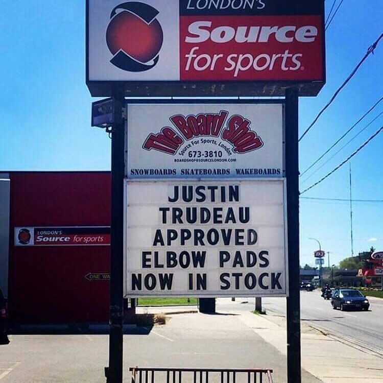 Prime Minister approved elbow pads now in stock.  #elbowgate https://t.co/sq6NtJ8BV6 https://t.co/KMtcBNp7qq