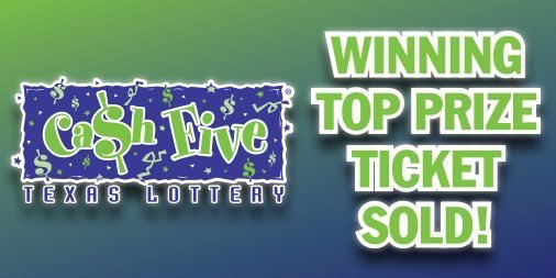 A top prize ticket was sold in #Dallas for last night's #CashFive drawing. #TexasLottery https://t.co/pUkqEecNek