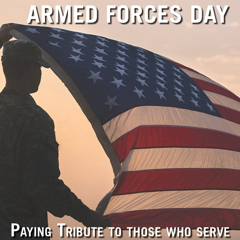 On Armed Forces Day, we celebrate & honor all of our currently serving military members. Join us in thanking them. https://t.co/zEcQzu3SWX