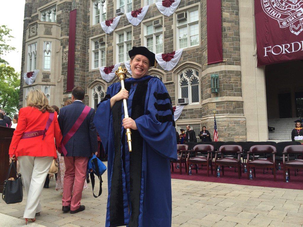 Our radiant #FacultySenate President, Dr. Anne Fernald. #Fordham2016 https://t.co/iCawtHSNVY