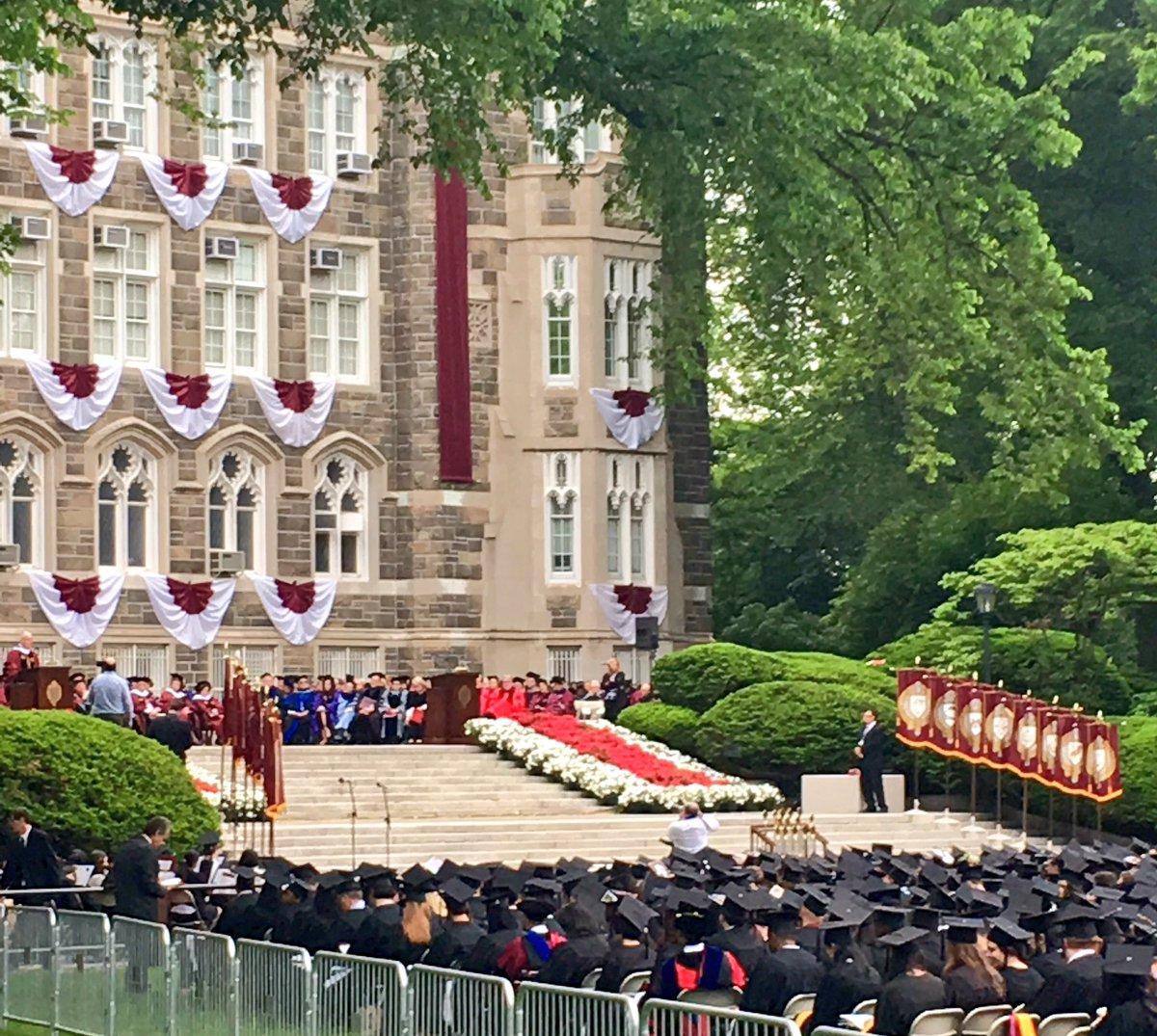 The head of @smithsonian, Dr. David Skorton addresses @fordhamnotes 2016 commencement #FordhamUniversity https://t.co/xygJo3BEwY