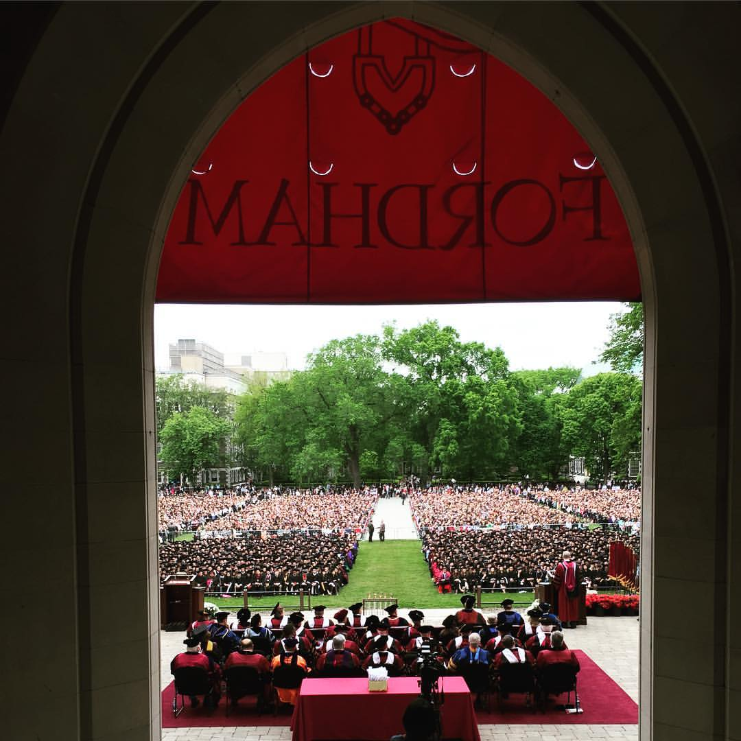 Wonderful photo by my colleague @TomStoelker #Fordham2016 #Commencement https://t.co/5UIVFcLS4E