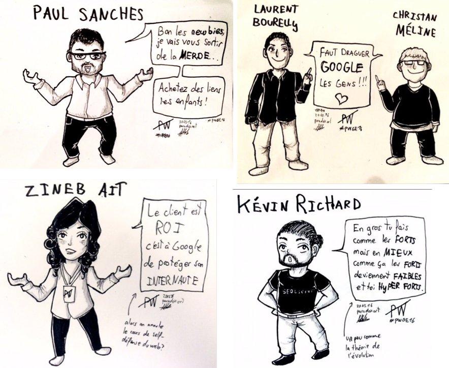 Un grand bravo @Nida_Errahmen pour ces dessins durant #pwge16 https://t.co/K2KdBkuItn