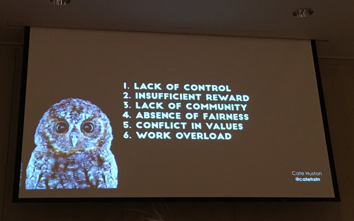 owl and list of burnout causes