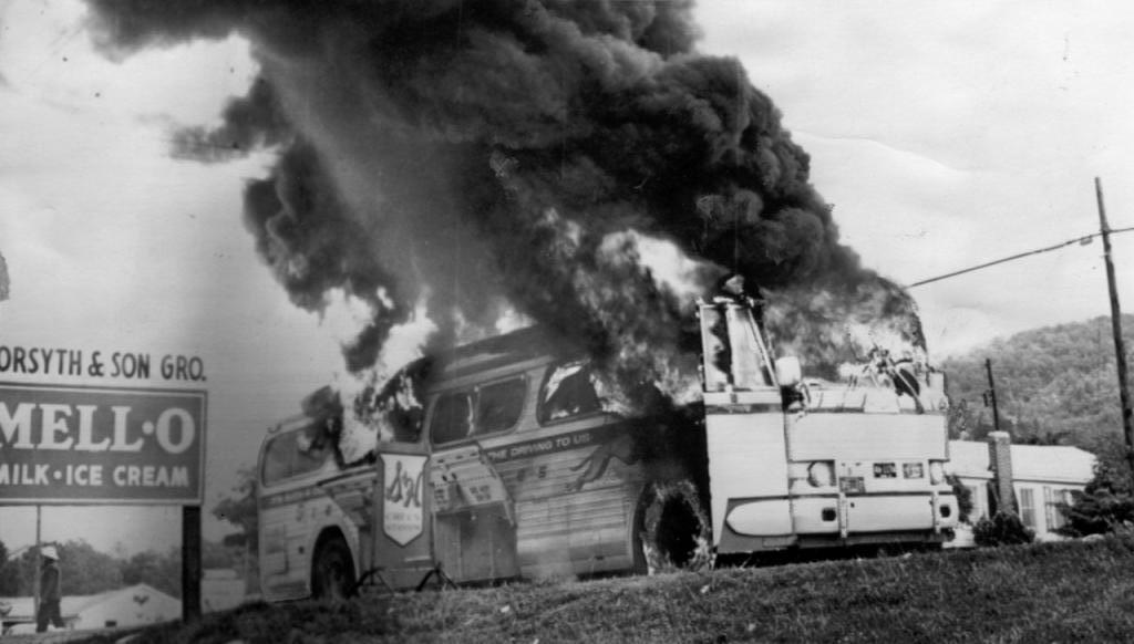 RT @repjohnlewis: 55 years ago today, a bus carrying Freedom Riders was bombed six miles southwest of Anniston. It was Mother's Day. https:…