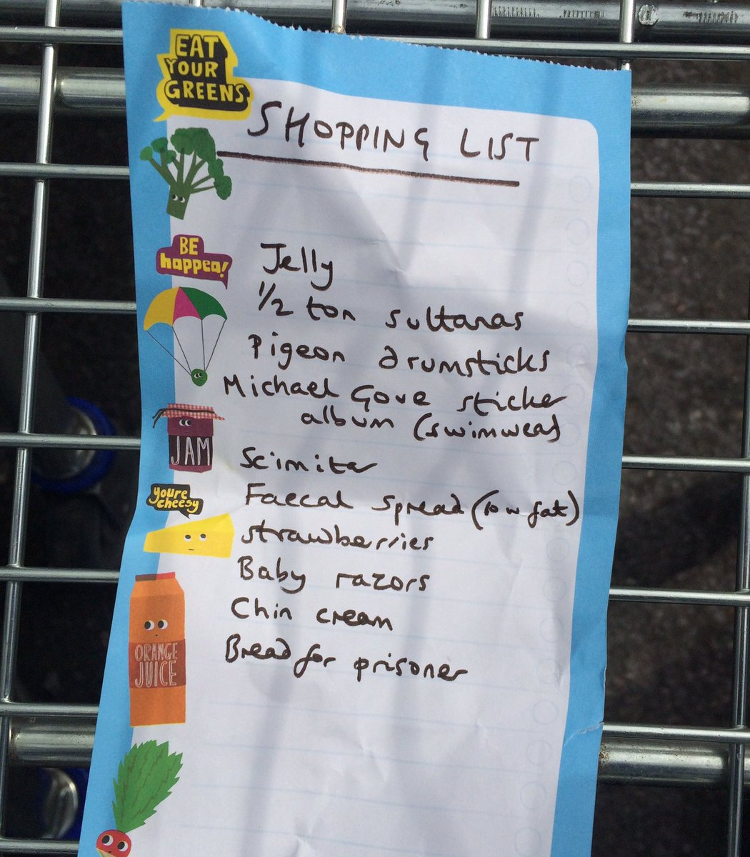 Today's shopping list left in a Tesco trolley for a happy shopper: https://t.co/3Qsg1X47XS